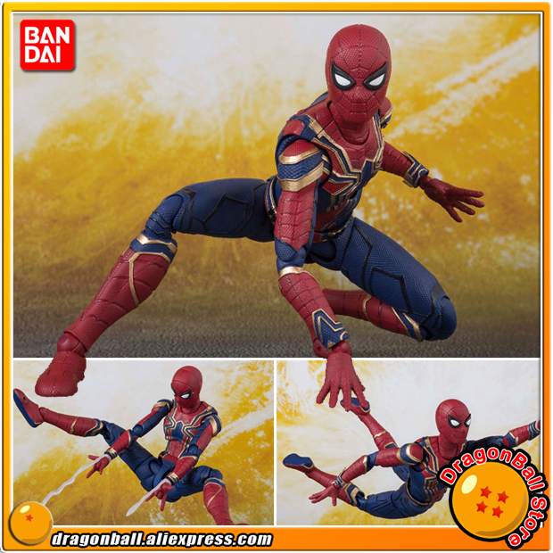 Japan Anime Avengers: Infinity War Original BANDAI Tamashii Nations S.H. Figuarts / SHF Action Figure - Iron Spider