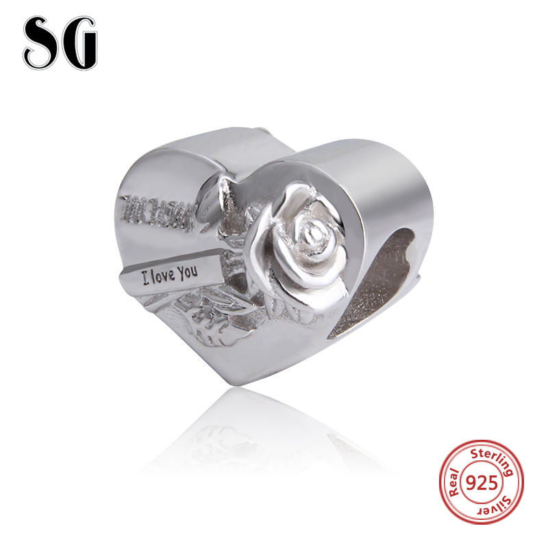 New Arrival 925 Silver Sterling Original Charms Mum I Love You