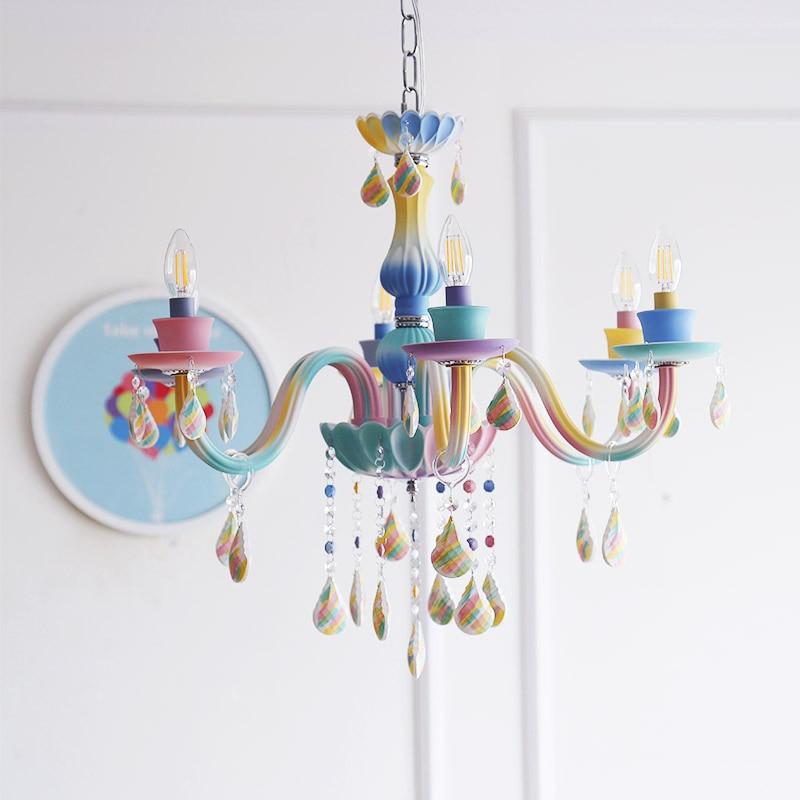 Lustres modernes éclairage coloré lustres en céramique plafond pour enfants salon chambre 110V220V lustre luminaire
