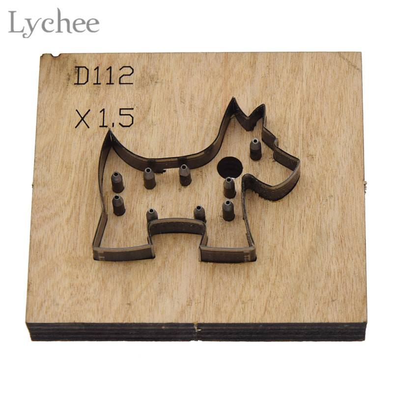 Lychee 10 Styles Leathercraft Punching Tool DIY Handmade Flower Template Knife Punch Tool Laser Cutting Tool