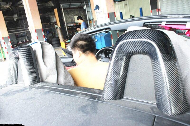 Car styling 09-16 E89 Z4 Surface En Fiber De Carbone Siège Couvre autocollants Pour BMW Z4 Sièges Autocollant Accessoires