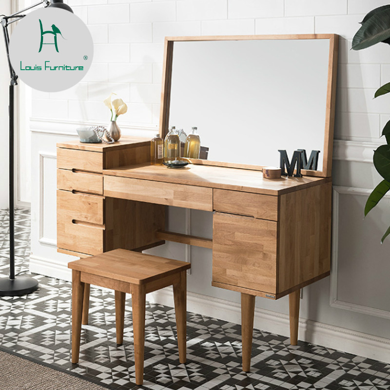 US $515.9 |Louis Fashion Dressers Nordic Bedroom Modern Minimalist Rubber  Wood All Solid Wood Japanese Mirror-in Dressers from Furniture on AliExpress