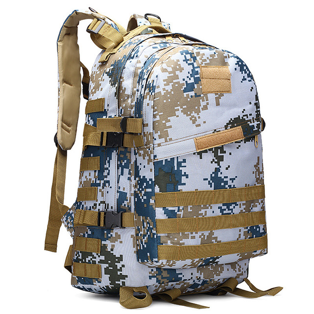 40L Oxford Waterproof Outdoor Sport Military Molle Tactical Bag Rucksack Men Camping Climbing Hiking Travel Backpack Mochila