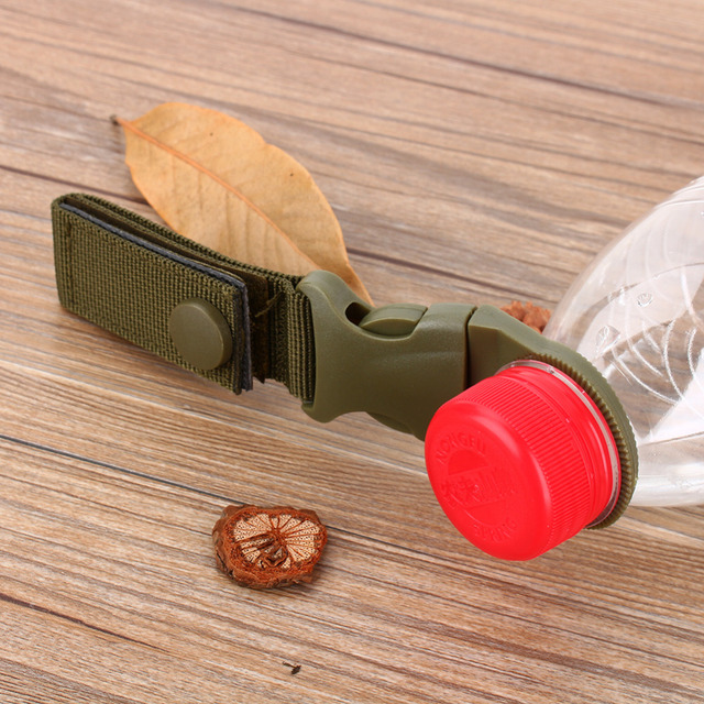Hot Sale New Outdoor military Nylon Webbing Buckle Hook Water Bottle Holder Clip EDC Climb Carabiner Belt Backpack Hanger Camp