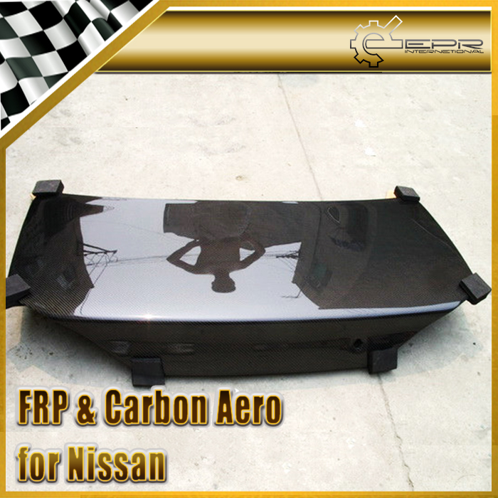 Car styling For Nissan S15 FRP Fiber Glass OEM Style Rear Trunk Fierbglass Boot Lid Auto Racing Body Kit Accessories Trim