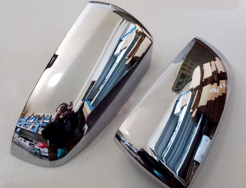 For BMW X5 E70 2008 2009 2010 2011 2012 2013 Exterior ABS Chrome Car Side Mirror Rearview Cover Trims 2pcs