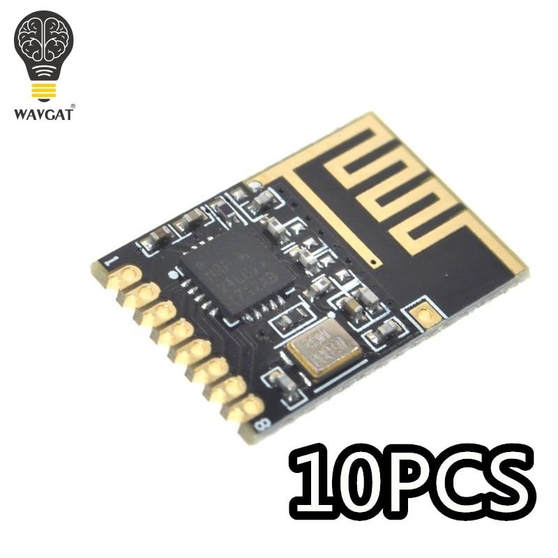 WAVGAT 10PCS Component Kit NRF24l01+ 2.4GHz Wireless Module Mini Version Power enhanced version SMDWAVGAT 10PCS Component Kit NRF24l01+ 2.4GHz Wireless Module Mini Version Power enhanced version SMD