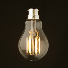 8W ,B22 Bayonet Base,Retro LED Filament Bulb,220-240VAC,Warm White Edison A19 Globe Style,Decorative Lighting,Dimmable