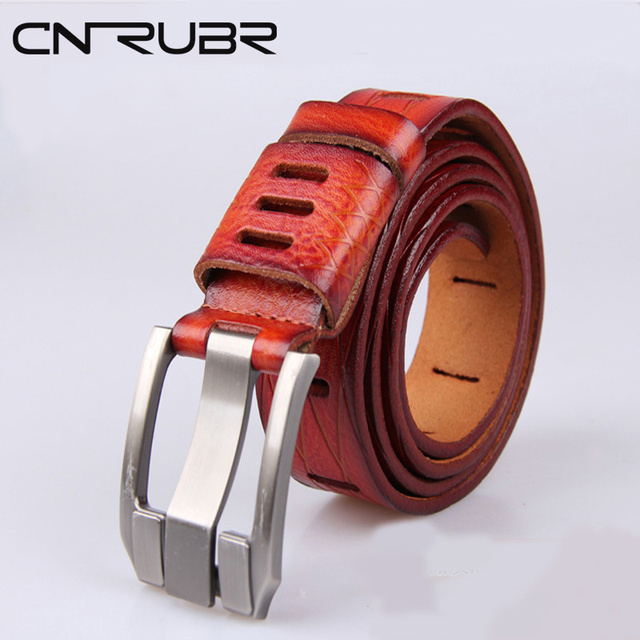 CNRUBR Boutique de Los Hombres! Cinturones clásicos Para Los Hombres Pantalones Vaqueros Harajuku Hombres de LA CORREA de Cuero Original de Excelente Calidad Cinto Feminino