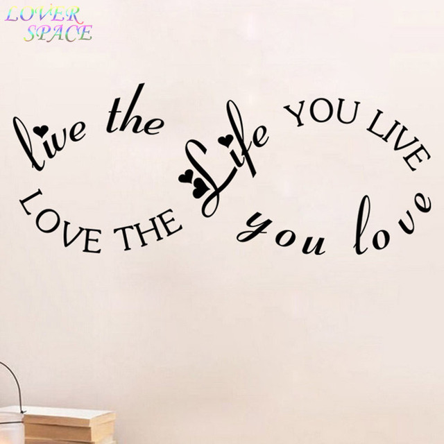 Free Shipping Wall Stickers Home Decor Love The Life You Live Bob