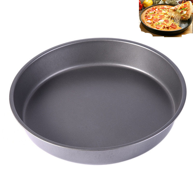 9 Inch Non Stick Pizza Pan Stones Carbon Steel Baking Dish Tray Mold Microwave Oven Cake