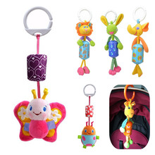 sozzy Top quality Kids Toy,children christmas gift soft Animals bed car Hanging Ring Bell Rattle 20%Off