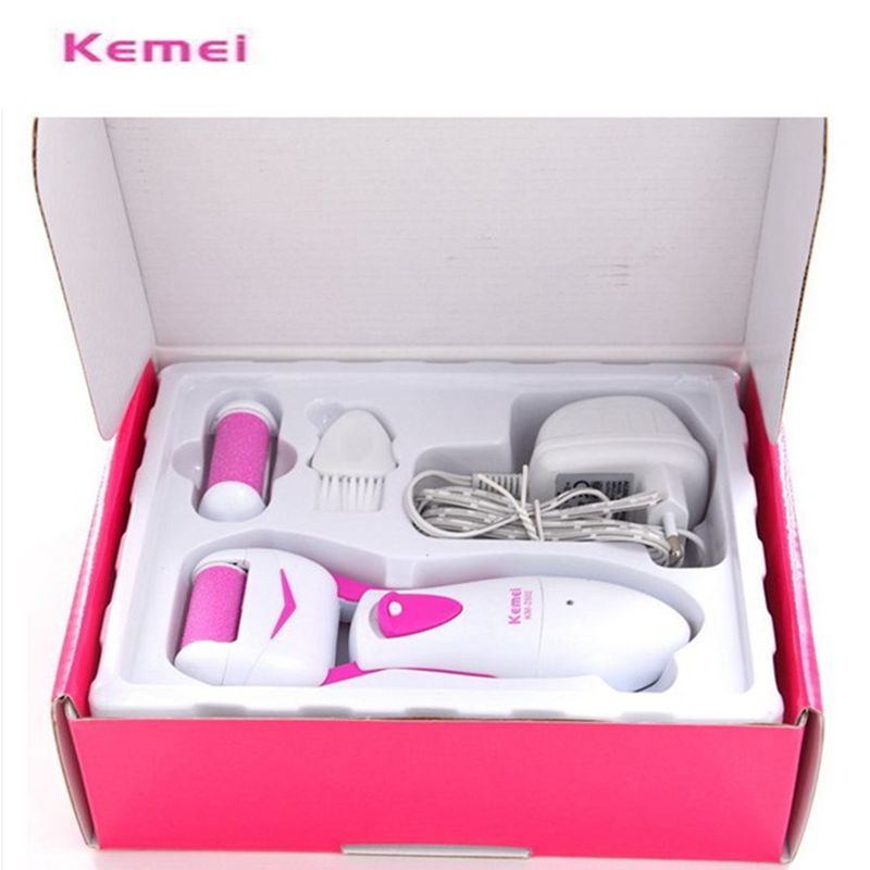 Foot Care Tool Feet Dead Dry Skin Removal Electric Exfoliator File Heel Cuticles Remover Pedicure KM-2502 - HeHui E Shop store