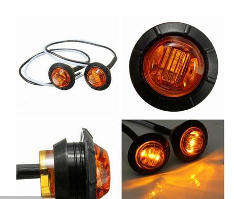 10x 12//24V Red LED Side Marker Indicators Light Lamp Truck Caravan Trailer Lorry