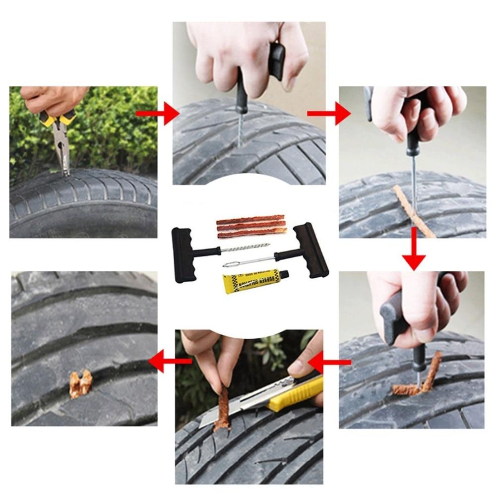 Image 3 - Car Tire Repair Kit   Car Tire Repair Tool Kit For Tubeless Emergency Tyre Fast Puncture Plug Repair Block Air Leaking