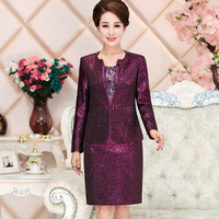 Middle aged and old mother wedding festival suit 2018 new wedding mother dress suit P8227