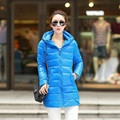 Плюс Размер М-4XL Зимняя Куртка Женщин Новый Тонкий ПУ Кожа вниз Хлопок Пальто Куртки С Капюшоном Парки Сплошной Abrigos Mujer Пальто C1623