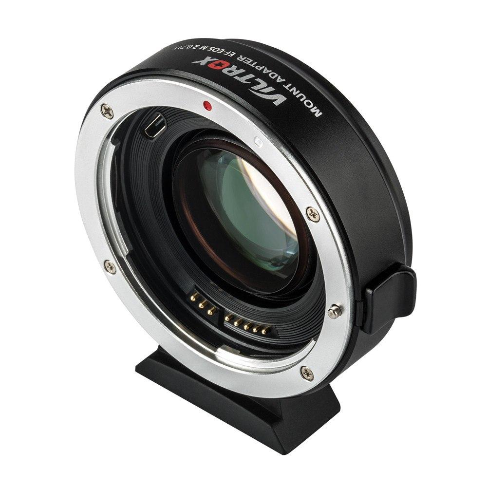 Viltrox EF-EOS M2 réducteur Focal Booster adaptateur Auto-focus 0.71x pour Canon EF monture objectif à EOS M caméra M6 M3 M5 M10 M100 M50