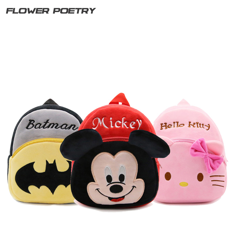 Cartoon Plush Kids School Bags Children Girl Mini School Backpacks Baby mochila Infant School Bags Boy Backpacks Gift For Kids pink school bags hot girl s princess backpacks for teenagers children kids nylon 3d student backpacks 33 28 10 cm aw84