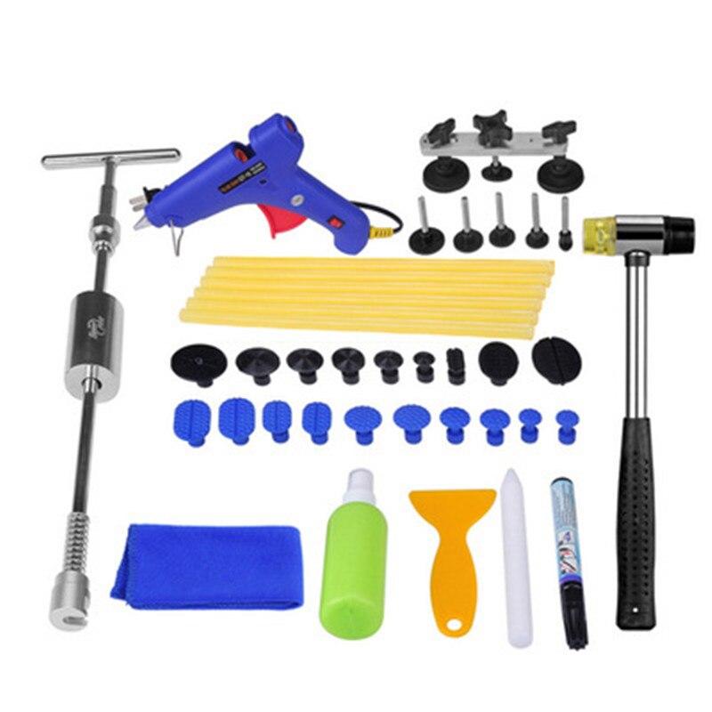 Car sag Paintless repair tools Car Dent Removal Hand Tool Set Reflector Board dent puller Slide Hammer Tabs PDR glue gun kits все цены