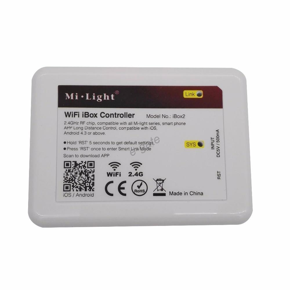 New Mi.light Wifi iBox2 controller DC5V compatible with IOS/Andriod system Wireless APP Control for CW WW RGB strip bulb