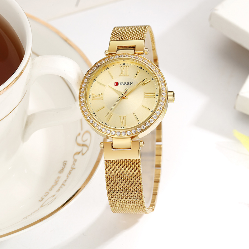 Image 5 - CURREN Rose Gold Watch Women Watches Ladies Stainless Steel Women's Bracelet Watches Female Relogio Feminino Montre Femme 9011-in Women's Watches from Watches