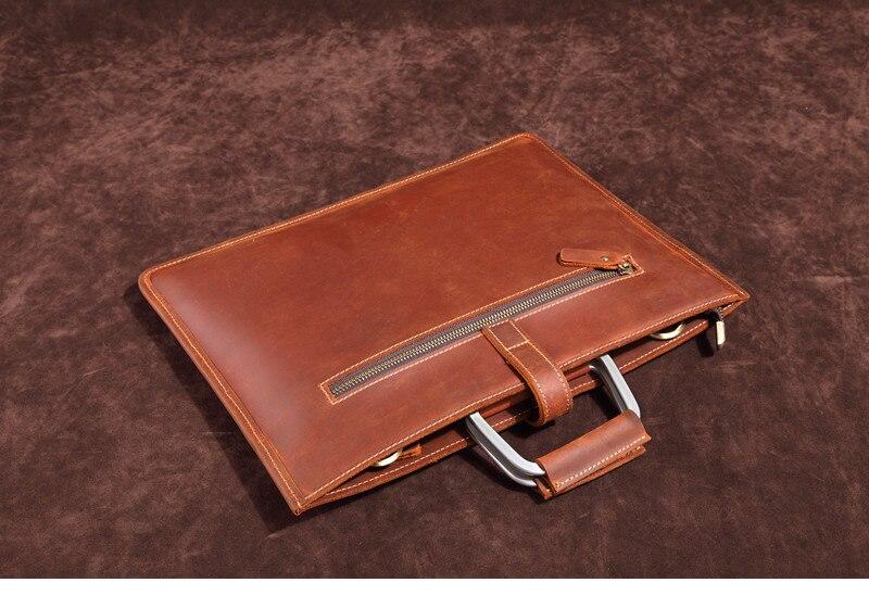HTB1Cow6IHSYBuNjSspfq6AZCpXas Genuine Leather Men's Handbags Crazy Horse Leather Man Retro Tote Bag Shoulder Messenger Bag Business Men Briefcase Laptop Bag