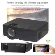 E08 LED Proyector 1500 Lúmenes 800*480 Píxeles 1080 P de Cine En Casa Mini Proyector Beamer Proyector Con Airplay Miracast Fuction