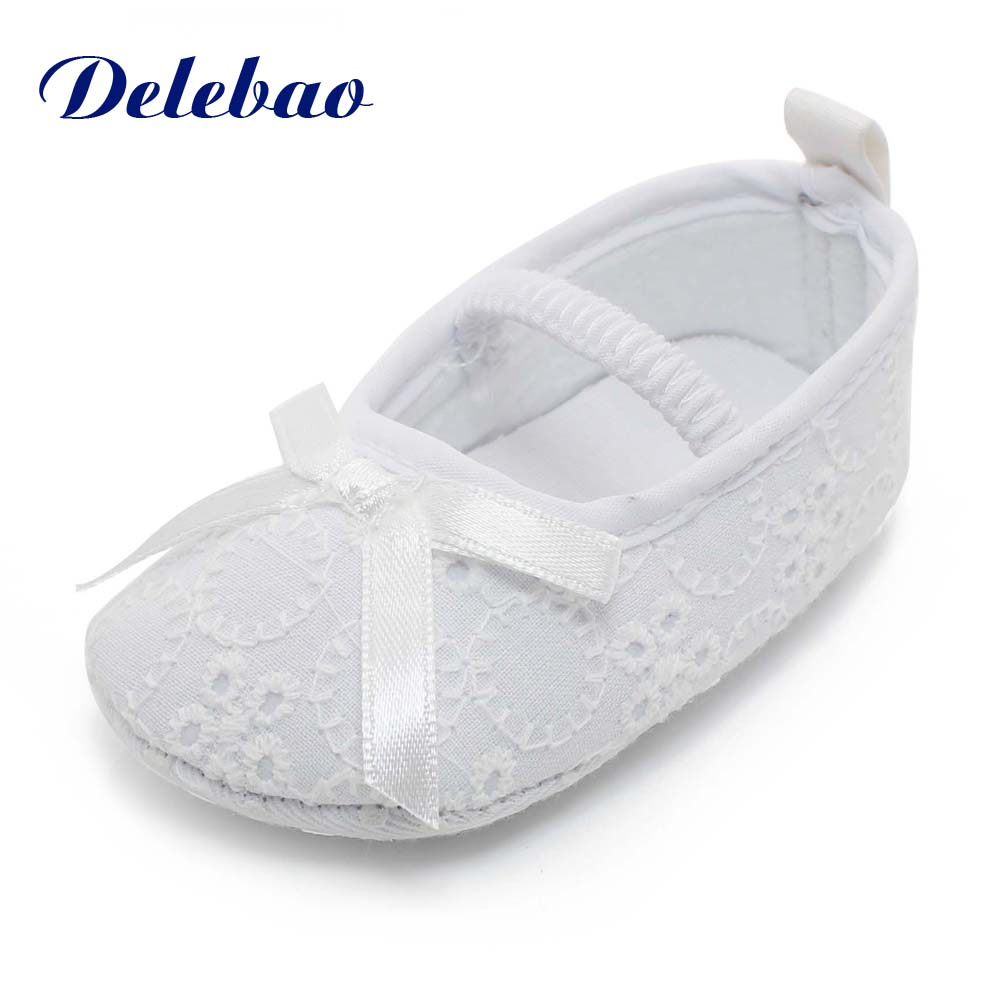 Pure White Newborn Baby Shoes Serious Solemn Christening/Baptism/ Shoes/Wedding Baby Girl Shoes Accessories Soft Sole Shoes
