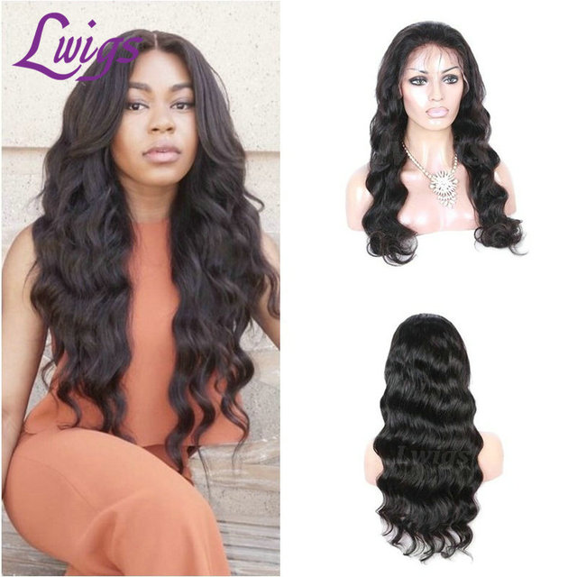 Full Lace Human Hair Wigs Brazilian Virgin Hair Body Wave Lace Front Wigs For Black Women Glueless Wigs with Baby Hair Free Part