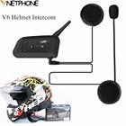 Portable Wireless 1200M Synchnronous Multi-interphone Helmet Intercom Motorcycle Intercom Bluetooth Helmet Headsets for 6 riders