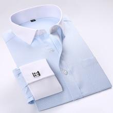 Men French Cufflinks Shirts 2017 New Men's Shirts Long Sleeve Tuxedo Male Brand Shirts Slim Fit French Cuff Dress Shirts