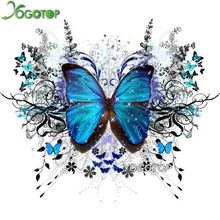 YOGOTOP Diy Diamond Painting Cross Stitch Kits 5D Mosaic Decorative Square Embroidery butterfly ZB243