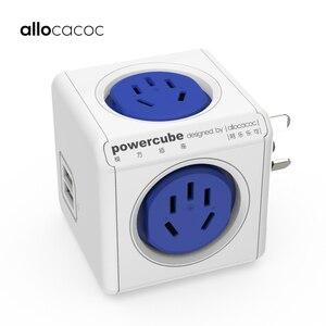 Image 1 - Allocacoc الذكية التوصيل Powercube الكهربائية USB مشترك كهرباء لأستراليا نيوزيلندا تمديد المقبس محول السفر المنزل