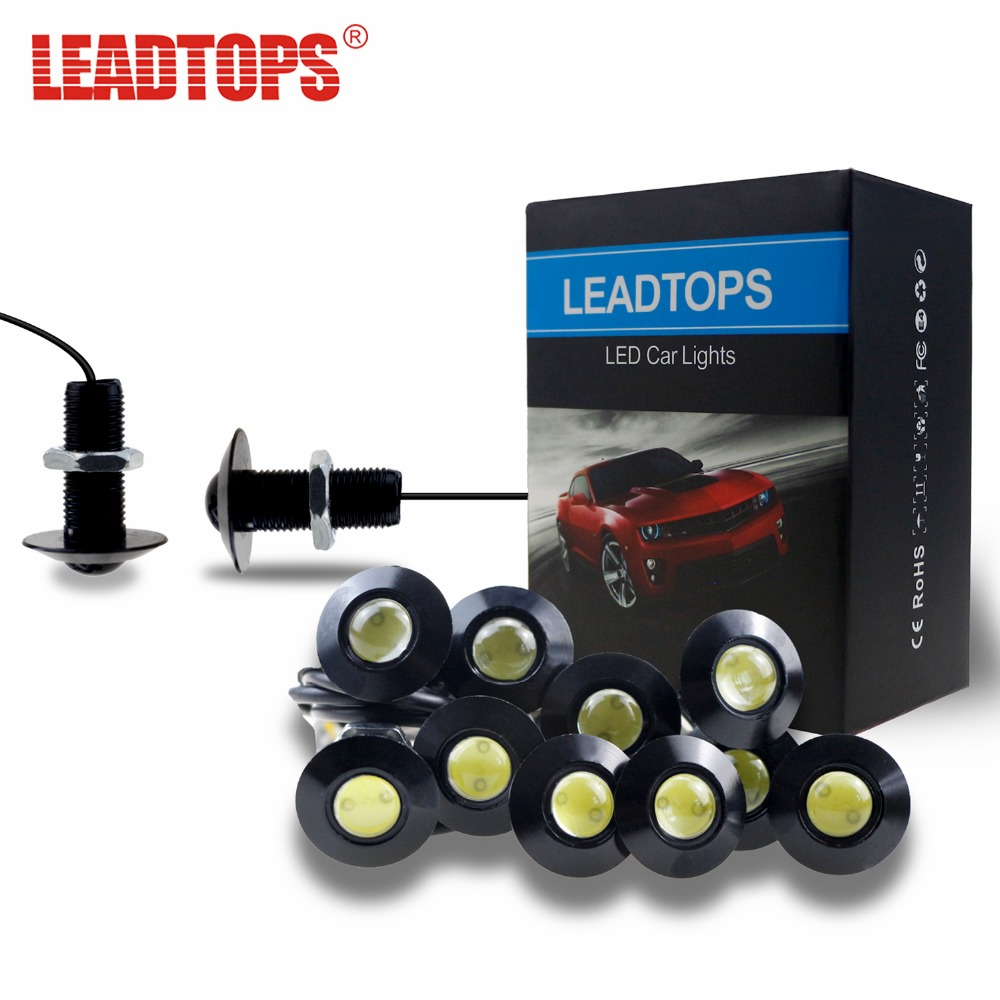 LEADTOPS 6pcs Auto LED DRL Daytime Running Lights Eagle Eye Car Light Source100% Ultra Thin 2.3CM For Ford For Toyota For Mazda leadtops car led lens fog light eye refit fish fog lamp hawk eagle eye daytime running lights 12v automobile for audi ae