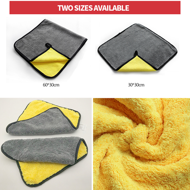 Car Care Wash Towels Microfiber Washing Drying Towel Strong Thick Plush Fiber Cleaning Cloth Detailing Wash Rags Accessories