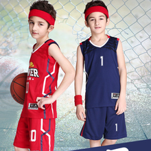 18Color New Child Boy Basketball Jersey & Shorts 2PCS Set Kid Suits Custom LOGO Name Number Sportswear Suits Train Uniforms DIY