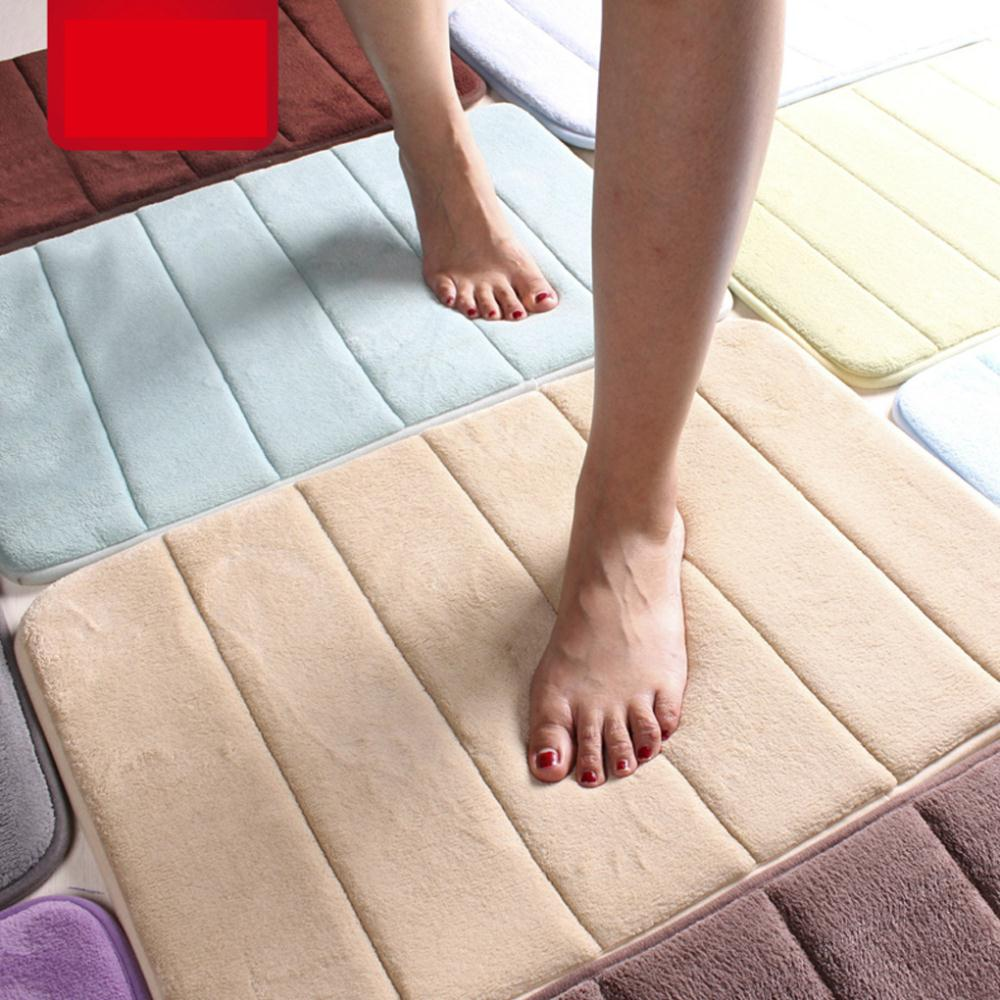 Carpet Coral Foam Soft Bathroom Memory Foam Bath Mat Non-Slip Back Rug