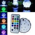 1 UNID 10 LED Decoración Impermeable Sumergible LED Tea Party Wedding Luz LED Con Control Remoto Para Halloween Navidad Decoración VCS73P30