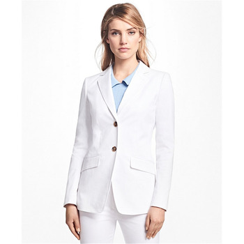 Custom women's single-breasted slim suit two-piece suit (jacket + pants) ladies business office official business wear