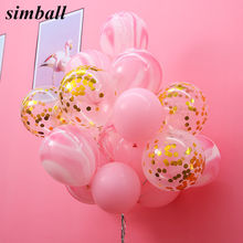 Unicorn Birthday Balloons Wedding Decoration Pink Gold Confetti Balloons Baby Shower Birthday Party Celebration Decor Supplies(China)
