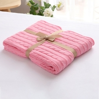 Sofa Blanket Wool Knitting Air Conditioned Rooms Twist Cotton Throw Home Textile Travel Bedding Cover Blankets