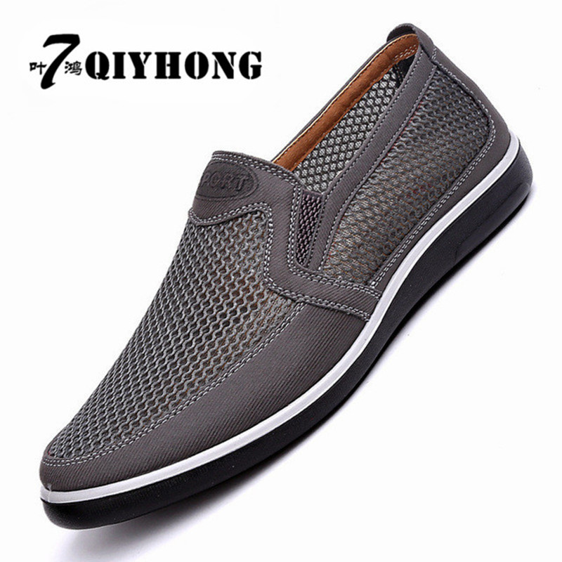 2018 MenS Casual Shoes,Men Summer Style Mesh Flats For Men Loafer Creepers Casual High-End Shoes Very Comfortable Size:38-43