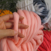 Hot 250g 36M Super Thick Natural Merino Wool Chunky Yarn Felt Wool Roving Yarn For Spinning