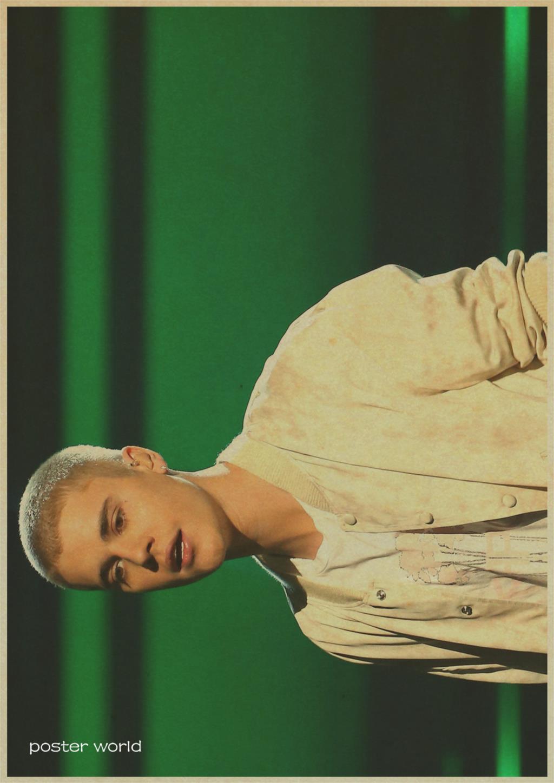 Wall Decor Justin Bieber Poster kraft paper living room Wall ...