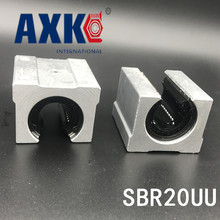 2 Pcs Sbr20uu Sbr20 20mm Linear Ball Bearing Block Cnc Router Cnc Parts 16mm linear block shafts sc16uu scs16uu cnc router diy cnc parts metal linear ball bearing pellow block linear unit shafts