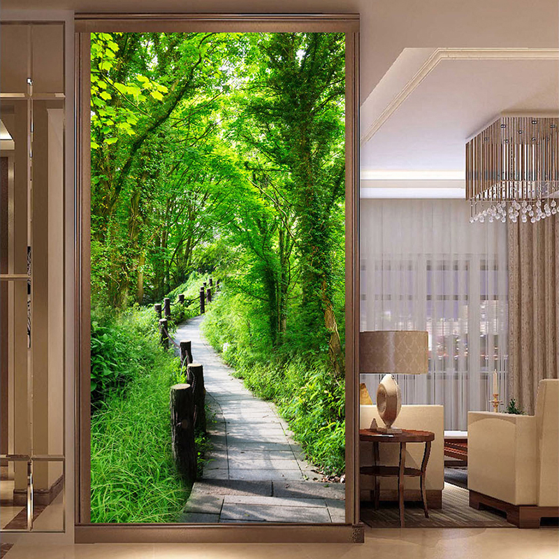 Custom Wall Mural 3D Wallpaper Modern Forest Nature Landscape Wall Painting Living Room Entrance Backdrop Wall Covering Frescoes