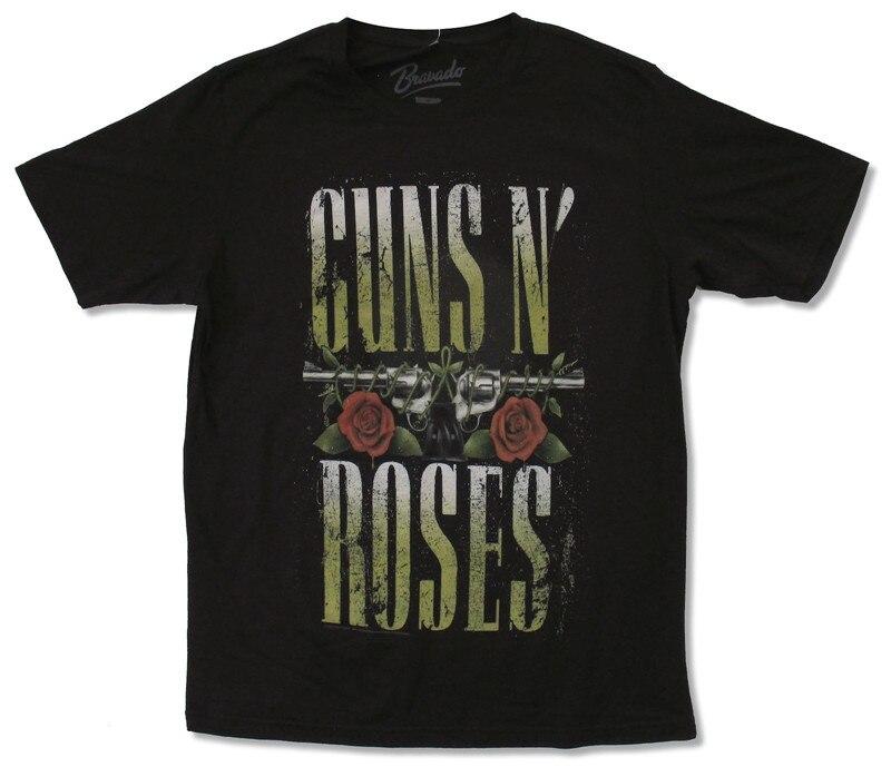 100% Cotton Summer T Shirt O-Neck Men Short Sleeve Best Friend Guns N Roses Shirts