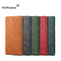 NeWisdom Official original for samsung note 9 case Leather Folio Wallet Cases s8 Galaxy note 8 Card Slot flip case cover s9