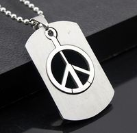 Design Free Chain Fashion 316L Stainless Steel peace Hollow out carving Pendant lovers Necklace